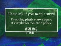 We are now using biodegradable and paper straws. Let's all do our share to cut back on using plastics in order to protect our en